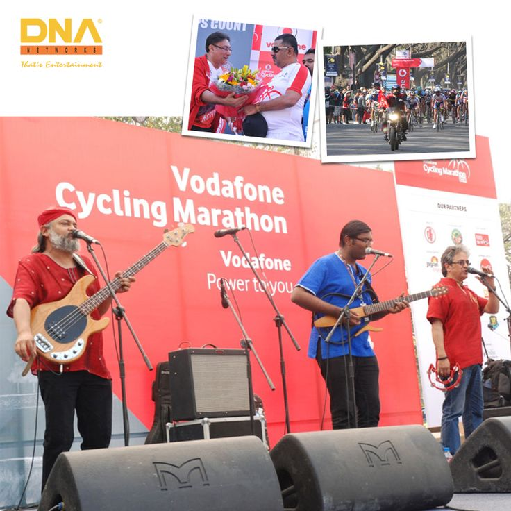 A musical marathon organised by us, Vodafone Cycling Marathon.