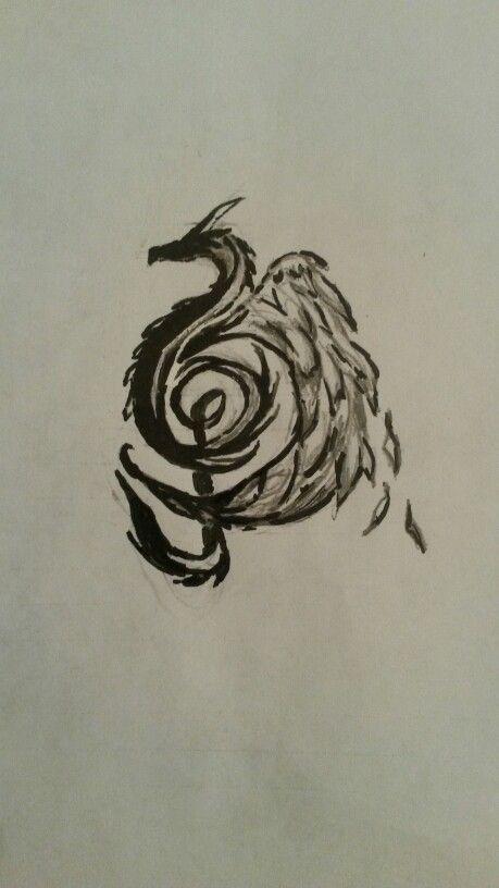 Dragon Music Note Drawing- By Alysha Biljan