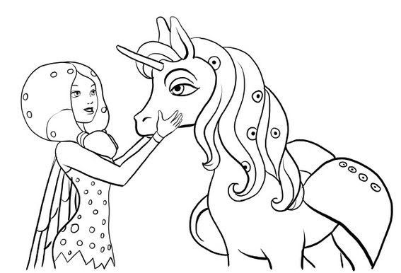 Onchao Unicorn Coloring Pages in 2020 | Unicorn coloring ...