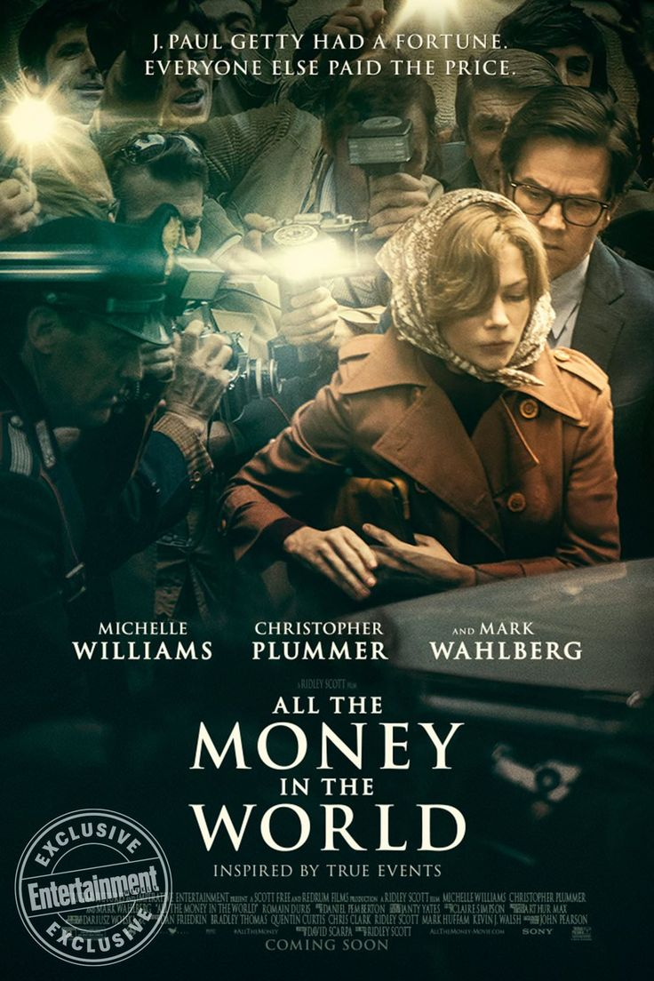 New Posters for 'All the Money in the World' | Michelle Williams Christopher Plummer and Mark Wahlberg | Directed by Ridley Scott http://ift.tt/2yRrUV6