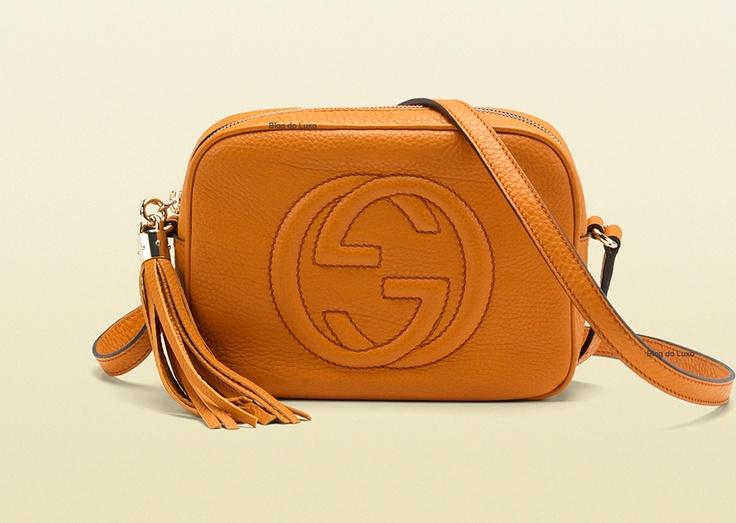 Gucci Disco Bag, em couro de bezerro amarelo girassol