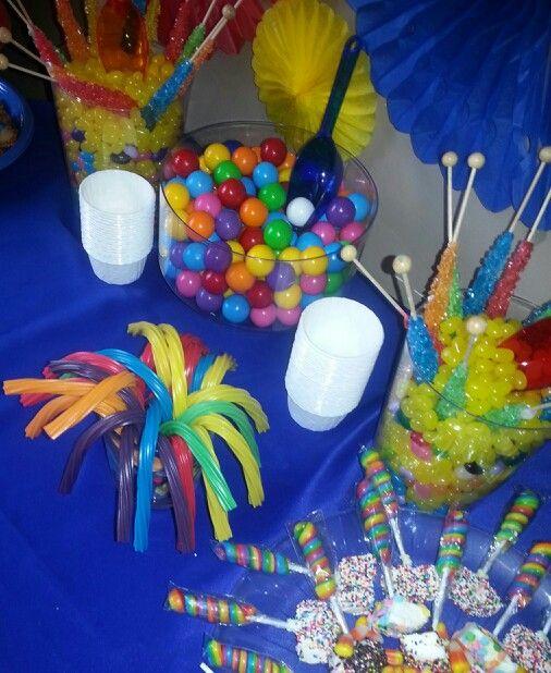 Sesame street birthday party.  Candy bar