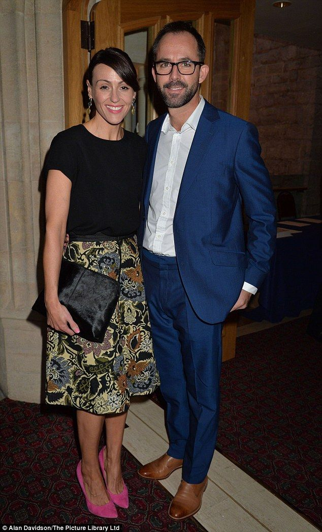 Wedding belle:Suranne Jones is a married woman after marrying her fiancé Laurence Akers
