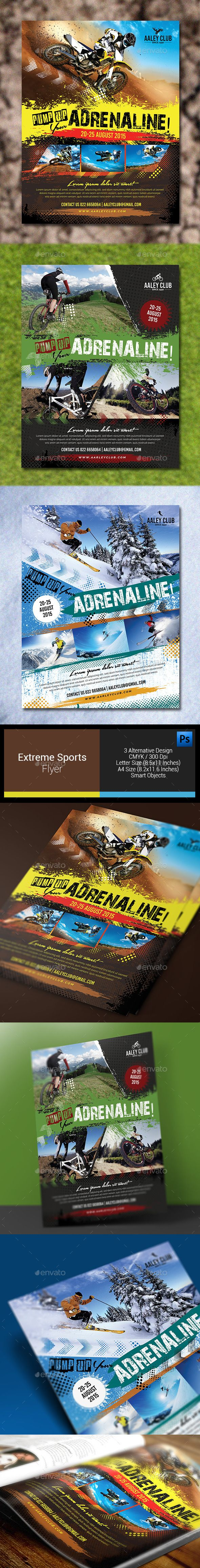 Extreme Sports Flyer / Magazine Ad Template PSD #design Download: http://graphicriver.net/item/extreme-sports-flyer-magazine-ad/12817110?ref=ksioks