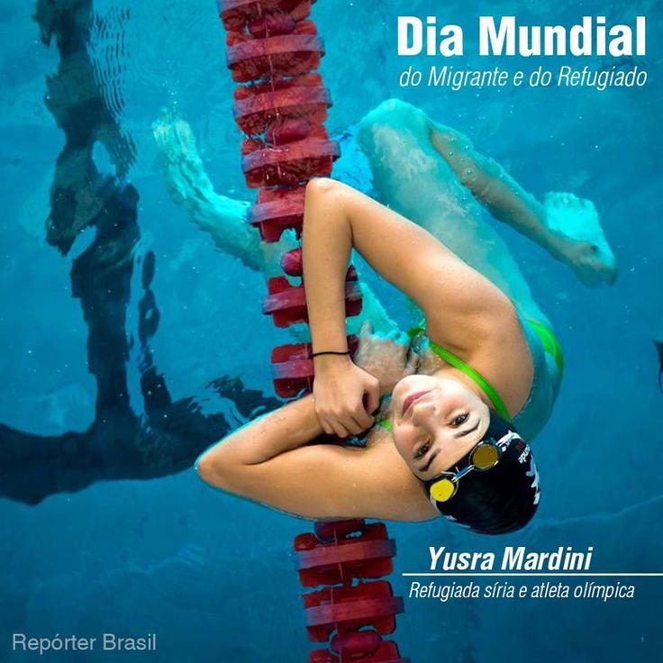Segundo a ONU, existem mais de 60 Milhões de refugiados no mundo. No Dia Mundial do Migrante e do Refugiado, uma homenagem à Yusra Mardini, nadadora que competiu pela delegação de refugiados na #Rio2016. Você conhece a história dela?