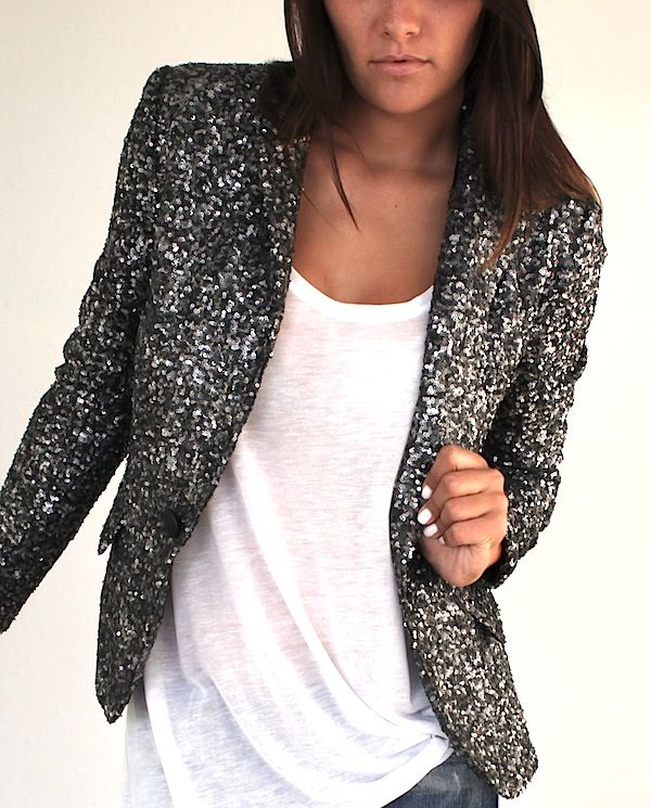 sequined blazer all about fashion pinterest blazers. Black Bedroom Furniture Sets. Home Design Ideas