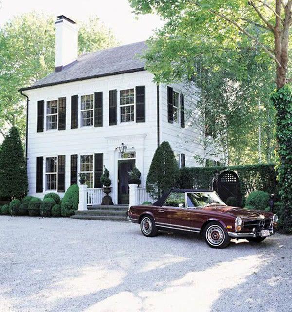 White house dark gutters neighborhood finds pinterest for Black and white houses