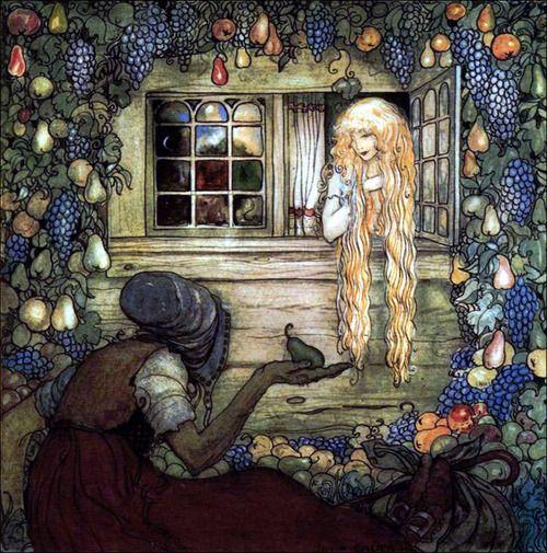 "Art by John Bauer (c 1910) - ""Alvida's Window."""