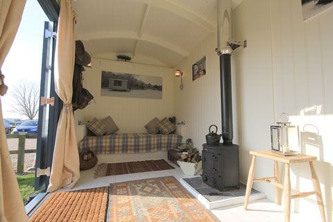 Shepherds Hut Showroom - Great ideas for extra small spaces.