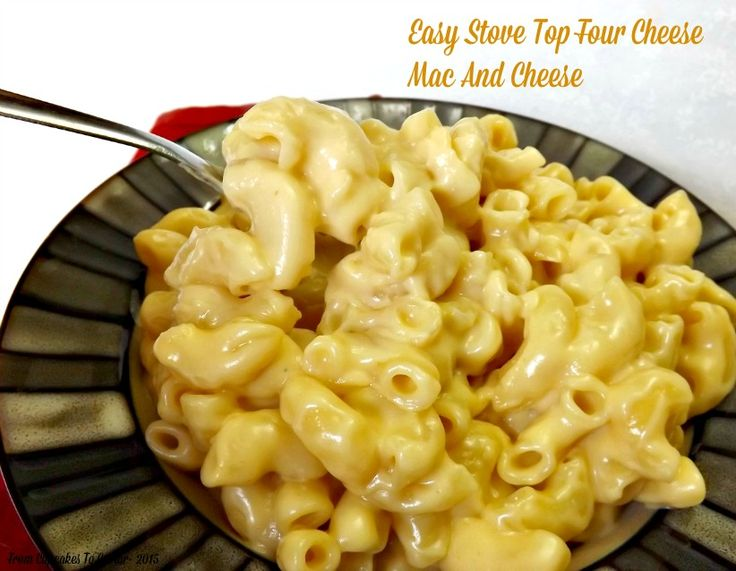 Easy Stove Top Four Cheese Mac And Cheese- rich and creamy, this mac ...