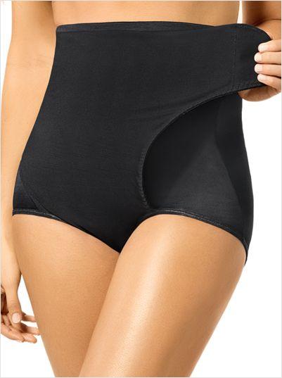 high-waist postpartum panty with adjustable belly wrap-700- Black-MainImage