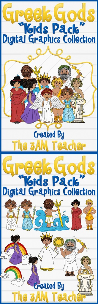Greek gods kids pack graphics collection by The 3AM Teacher. $7