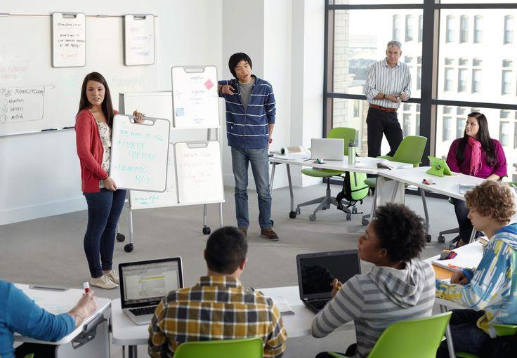 Collaborative Classroom Discussions ~ Aulas colegios steelcase educación verb pinterest