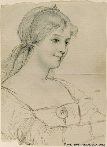 Kuningatar Blanka, kasvotutkielma, [1876-77]
