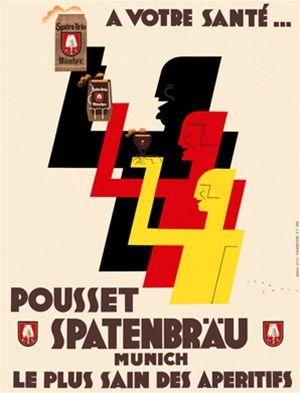 Pousset Spatenbrau by Jean Carlu - 1935