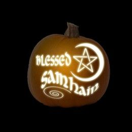 Samhain Pagan Pumpkin Carving Printable Stencils
