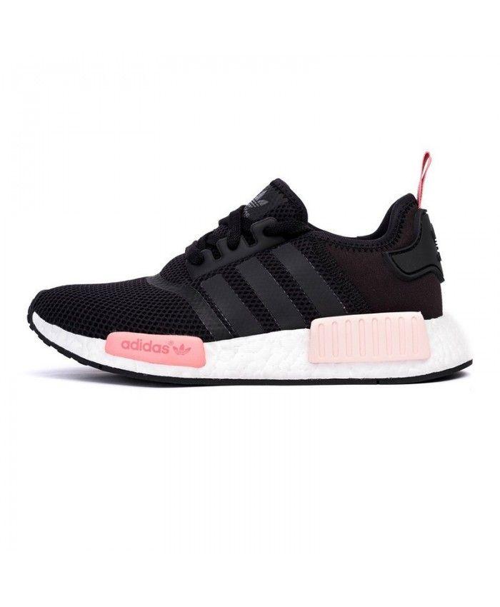 Adidas NMD R1 Runner Black Peach Pink S75234 | Adidas shoes women ...