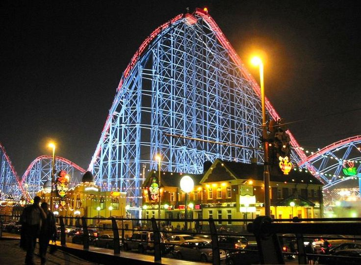 This is the Pepsi Max at Pleasure Beach in Blackpool. The theme park attracts an average of 6.2 million people.