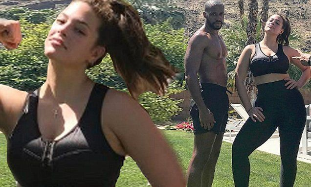Ashley Graham dons ENELL sports bra and leggings before Coachella