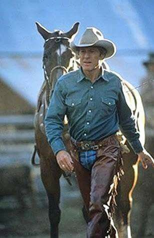 "Robert Redford ~ Filming of ""The Horse Whisperer"""