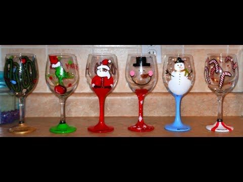 Cute Hand Painted Wine Glasses