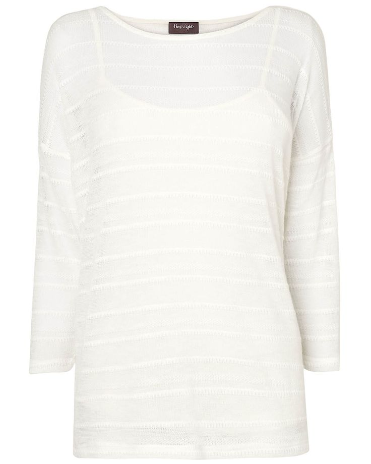 New In: Clothing | White Sydney Stripe Top | Phase Eight