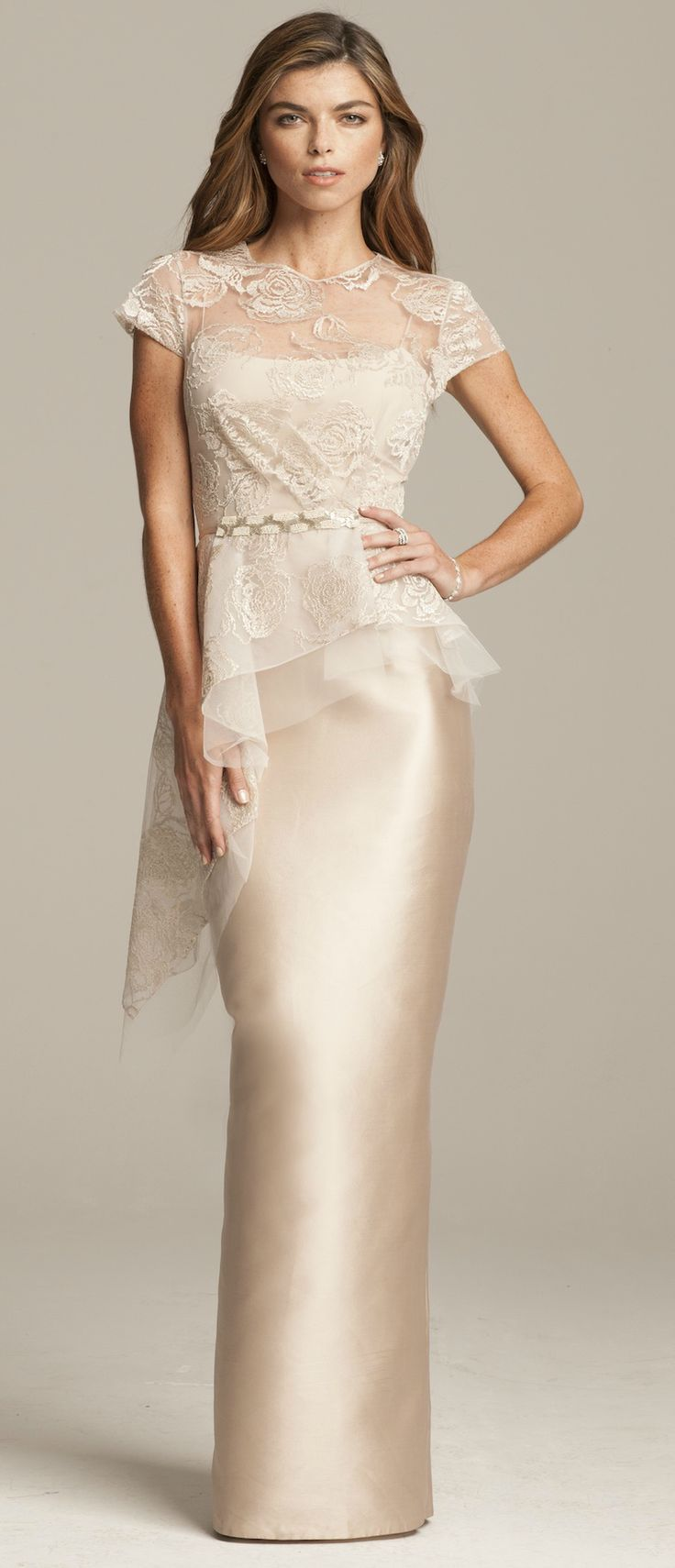 Champagne mother-of-the-bride gown