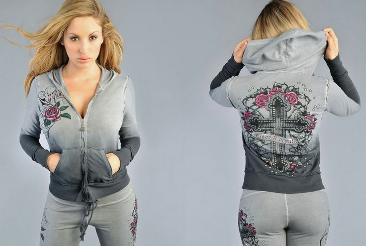Sinful Roses Cross tracksuit [Sinful tracksuit] - $55.00 : Affliction clothing sale online,wholesale Affliction clothing online, Affliction ...