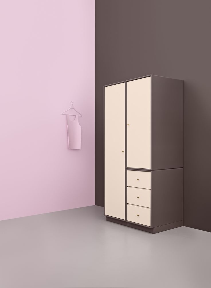 WEAR 2 from Montana Collection. A flexible combination of drawers and cabinets on a plinth. You can design WEAR 2 in 42 colours.  #montanafurniture #danishdesign #furniture #wardrobe #cabinets #storage #bedroom #colours