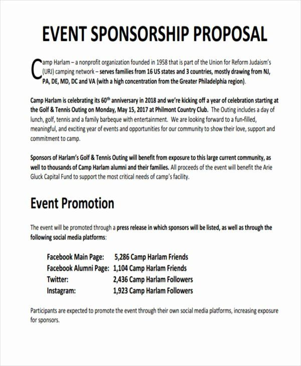 Sports Team Sponsorship Proposal Template Beautiful 10 Sponsorship Proposal Examples Samples Sponsorship Letter Sponsorship Proposal Event Proposal Template