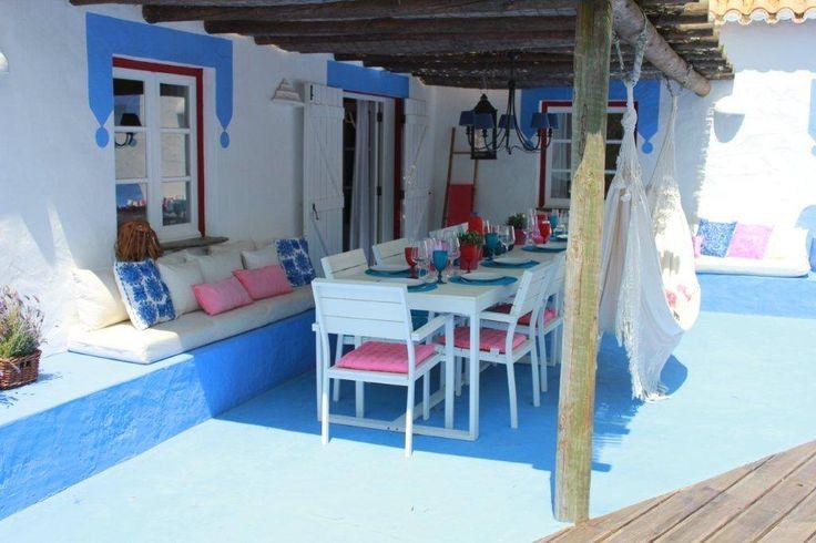 Casa na Costa Alentejana - Zona de refeições exterior