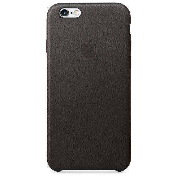 Оригинальный кожаный чехол-накладка Apple для iPhone 6/6s цвет «Черный» (MKXW2ZM/A) - фото 19475