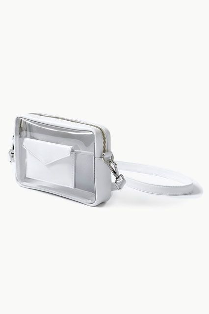 A transparent bag for the brave folks out there who have absolutely nothing to hide.Death in Paris Piscine Blanc, $176, available at Death in Paris.  #refinery29 http://www.refinery29.com/crossbody-purses#slide-11