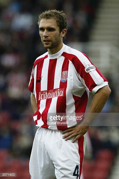 John Eustace of Stoke City with his hands on his hips looking dejected during the Nationwide League Division One match between Stoke City and Burnley...