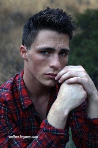Colton Haynes. I love freckles on a man