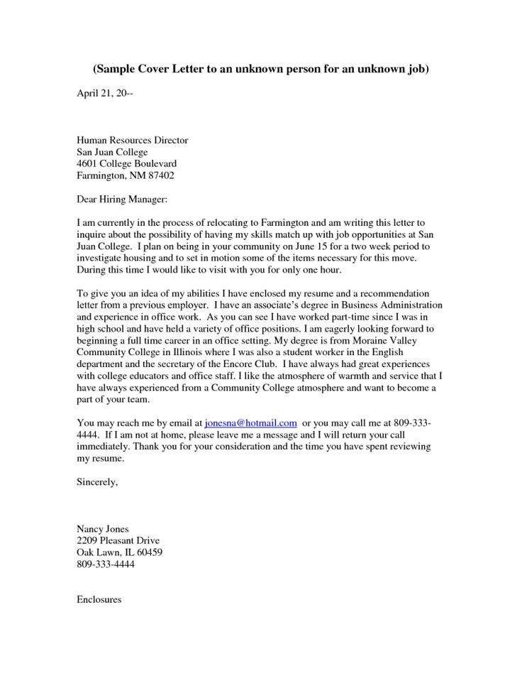 78 best images about cover letters on pinterest cover for Addressing someone in a cover letter