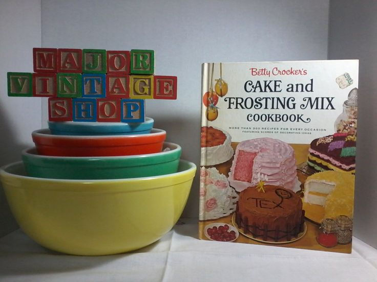 """Betty Crocker's """"Cake and Frosting Mix"""" Cookbook first edition by MajorVintageShop on Etsy"""
