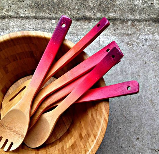 ombre spoons.