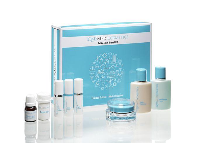 Kosmetik fürs Handgepäck – !QMS Medicosmetics lanciert neues Activ-Skin Travel Kit