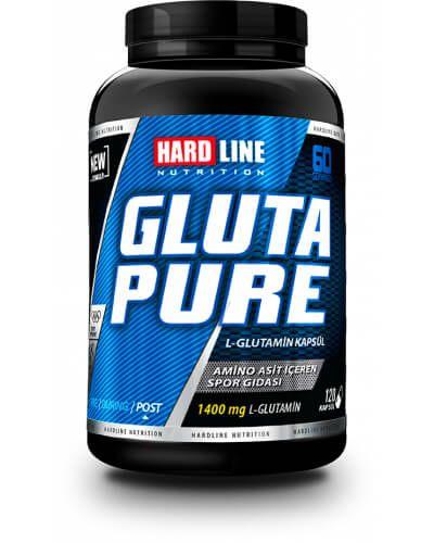 Hardline Glutapure 120 Kapsül,  yüksek saflıkta %100 glutamin içeren amino asit takviyesidir. L-Glutamin vücutta birçok yaşamsal faaliyette görev alan ve insan vücudunda en fazla bulunan amino asit türü olup, karbonhidrat ve protein sentezi içi son derece önemli, anabolik (kas yapıcı) etkilidir.