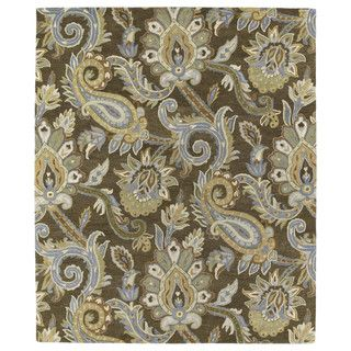 Christopher Kashan Hand-tufted Light Brown Paisley Rug (10' x 14')   Overstock™ Shopping - Great Deals on 7x9 - 10x14 Rugs