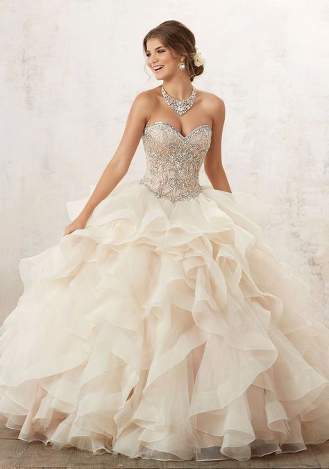 Strapless Ruffled Quinceanera Dress by Mori Lee Vizcaya 89126 in ... 642d8c4b1663
