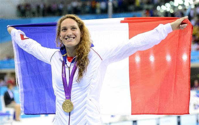 Camille Muffat médaillée d'or - 400 mètres nage libre - London 2012