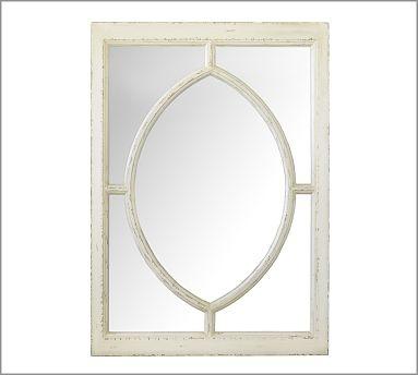 White Observatory Mirror #potterybarn