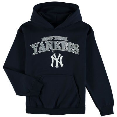 Youth Stitches Navy New York Yankees Team Fleece Pullover Hoodie