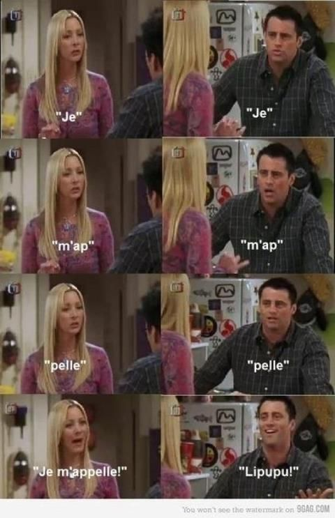 Ah! Loved watching Joey learn french. :)