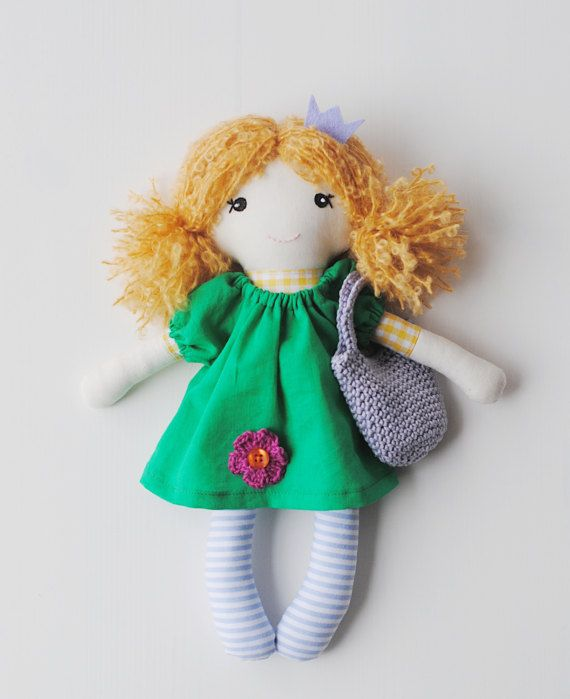 Rag doll cloth doll  Mira soft doll doll for girls by pompondolls