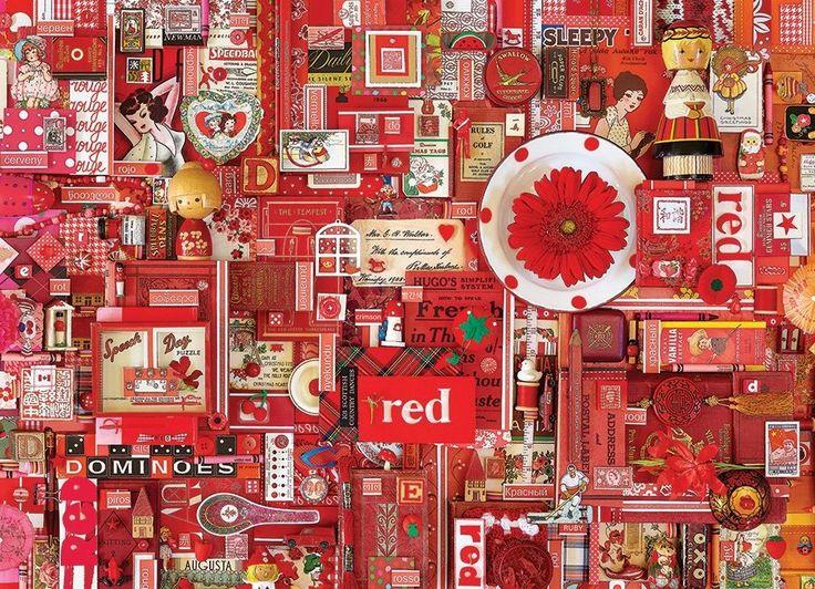 Puzzle COBBLE HILL 51861 Barvy duhy: Červená 1000 dílků