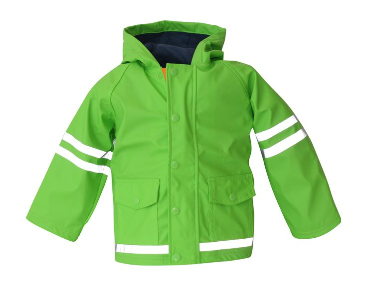 i Rock the Block Boys' Hi-Vis Rain Jacket  Lime