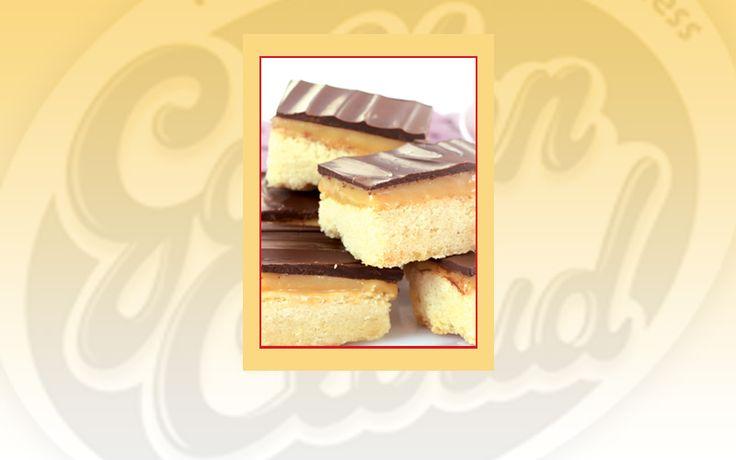 Golden Cloud Caramel and Chocolate Shortbread